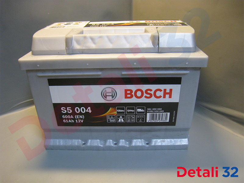 Аккумуляторная батарея Bosch S5 Silver Plus [12V 61Ah 600A B13] Форд Фокус I (Ford Focus I), 0092s50040